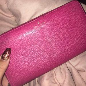 Kate spade pink wallet💗